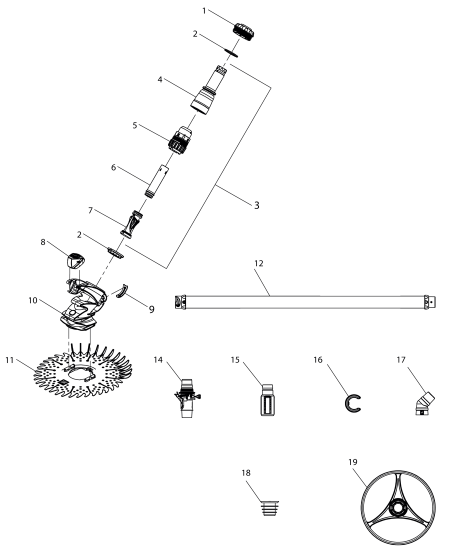 Despiece Limpiafondos Zodiac T3